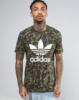 adidas Trefoil Logo T-Shirt In Camo Bk5861