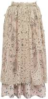 Bora Aksu Battenburg Lace Skirt