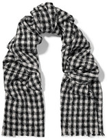 Brunello Cucinelli Gingham Alpaca And Wool-Blend Scarf