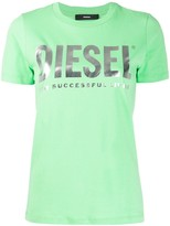 Diesel PVC lettering and slogan T-shirt