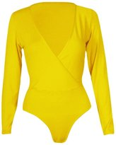Xclusive Collection New Womens Plus Size Wrap Over Bodysuits Leotard Tops 8-22 ( , 1X )