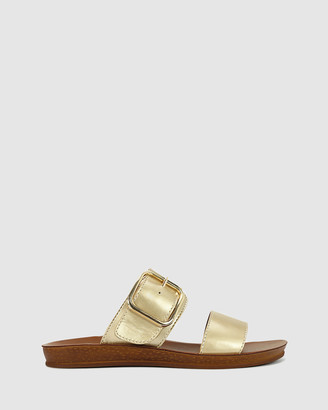 Los Cabos - Women's Gold Strappy sandals - Doti - Size One Size, 37 at The Iconic