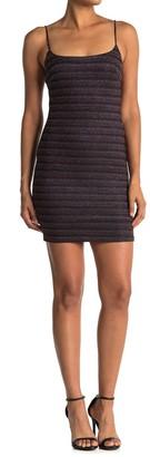 Lush Metallic Stripe Bodycon Mini Dress