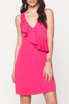 Everly Pink Ruffle Detail Dress