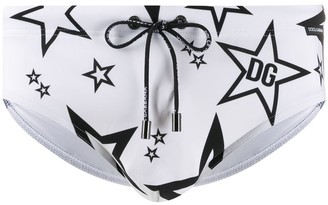 Dolce & Gabbana Millennials Star printed swimming trunks