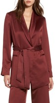Leith Women's Belted Satin Jacket