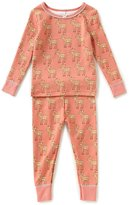 Starting Out Baby Girls 12-24 Months Fawn-Print Top & Pants Pajama Set