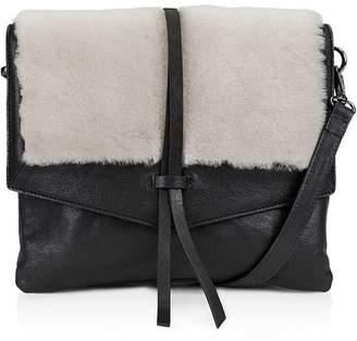 Kooba Yukon Medium Leather & Shearling Crossbody