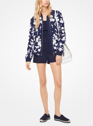 MICHAEL Michael Kors Floral Embroidered Bomber Jacket