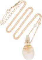 Jacquie Aiche Small Aladdin Rutilated Quartz Potion Bottle Necklace