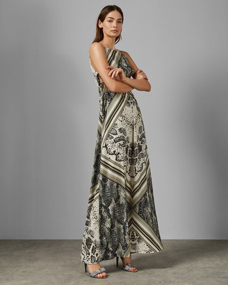 Ted Baker Snakeskin Side Split Maxi Dress