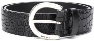 Diesel Croc-Effect Belt
