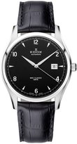 Edox Men's 80086 3 NIN WRC Automatic Stainless Steel Black Leather Date Watch