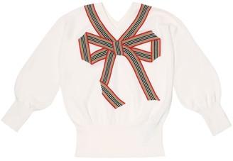 BURBERRY KIDS Merino wool and silk sweater