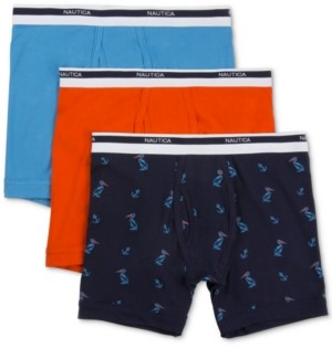 Nautica Men's 3-Pk. Stretch Boxer Briefs
