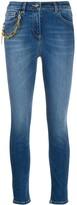 Elisabetta Franchi chain detail skinny jeans