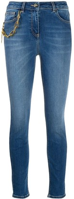 Elisabetta Franchi Chain Detail Skinny Jeans