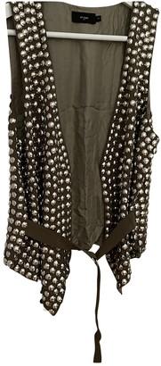Et Vous Camel Silk Jacket for Women