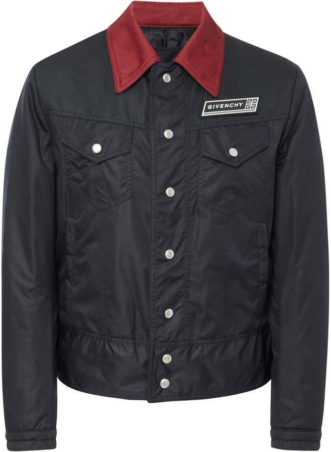 Givenchy Two-Tone Appliquéd Shell Bomber Jacket