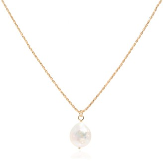 Coco Mango Jewellery Luxe Indah 18K Gold Rope Chain Baroque Pearl Necklace
