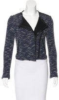 Rebecca Minkoff Tweed Leather-Trimmed Jacket