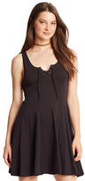 Aeropostale Womens Prince & Fox Solid Lace Up Fit & Flare Dress Black
