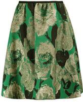 Erdem Loren Rose Metallic Jacquard Skirt