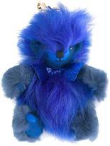 Burberry fuzzy teddy bear keyring - women - Polyimide/Cashmere/Lamb Fur - One Size