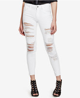 GUESS Ripped Optic White Wash Skinny Jeans