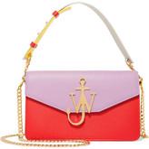 J.W.Anderson Logo Color-block Textured-leather Shoulder Bag - Lilac