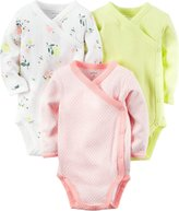 Carter's Baby Boys 3-Pack Long-Sleeve Side-Snap Bodysuits, All-Star Sports