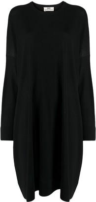 Sminfinity Draped Wool Knit Dress