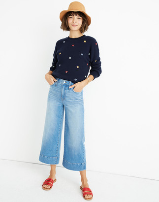 Madewell Petite Wide-Leg Crop Jeans in Delancey Wash