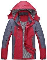 Diamond Candy men Sportswear Hooded Softshell Outdoor Raincoat Waterproof Jacket 02BXXL