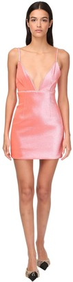 Area Stretch Lame Mini Dress W/ Crystals
