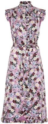 Erdem Sebla floral silk satin dress