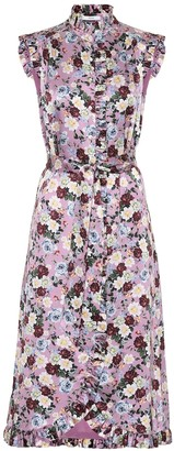 Erdem Sebla floral silk satin dress