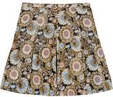 J.Crew Collection Silk Organza-Paneled Metallic Jacquard Mini Skirt