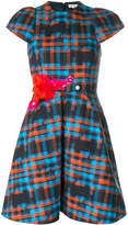 DELPOZO embellished check dress
