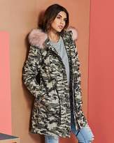 Fashion World Camoflauge Cotton Parka