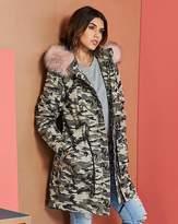 Fashion World Camoflauge Cotton Parka