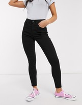 New Look supersoft skinny jeans in mid black