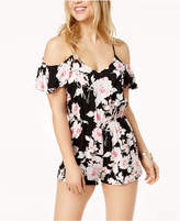 Be Bop Juniors' Printed Cold-Shoulder Romper