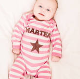 Nell Percy and Personalised Girl's Single Star Romper