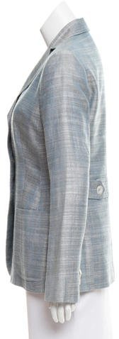 Kiton Silk & Linen-Blend Tweed Blazer