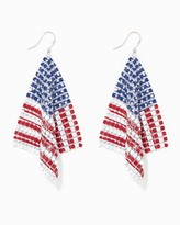 Charming charlie Mesh Flag Dangle Earrings
