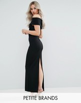City Goddess Petite Bardot Maxi Dress