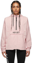 Kenzo Pink Packable Logo Windbreaker Jacket
