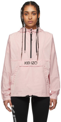 Kenzo Pink Packable Logo Windbreaker Jacket