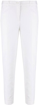 Boutique Moschino Crocodile-Effect Slim Fit Trousers
